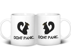 Caneca Don't Panic Squirrel
