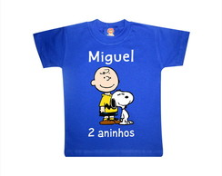 Camiseta Snoopy e Charlie Charlie Brown