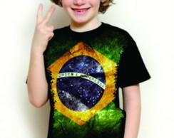 Camisa Infantil Bandeira do Brasil b12e8f8d5c911