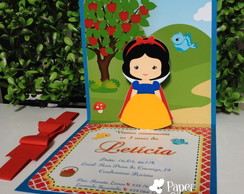 Convite Pop up 3D Branca de Neve