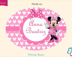 Placa Elipse Digital - Minnie Rosa
