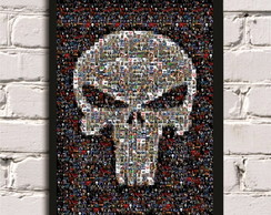 Poster com Moldura Punisher Skull