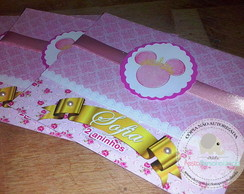 Convite Scrap Minnie Princesa