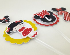 Topper Minnie Mouse Boneca Cute