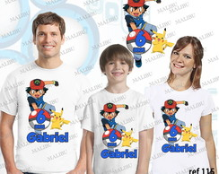 Kit Camiseta Aniversario Pokemon c/3