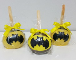 Maçã do Amor de chocolate do Batman
