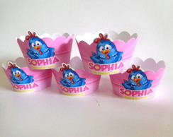 Wrappers Mini Cup Cake Galinha Pintadinh