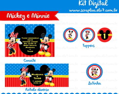 Kit Digital Mickey e Minnie