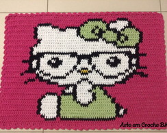 Tapete Croche Hello Kitty Óculos