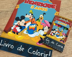 Kit de Colorir Turma do Mickey