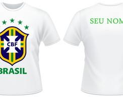 ... Camiseta Brasil + Nome Personalizado ce70790a887d9