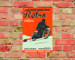 Placa Decorativa Motos Vintage