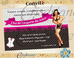 Convite Festa Lingerie Pin up