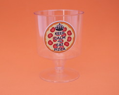 Taça para doce - keep calm - pizza