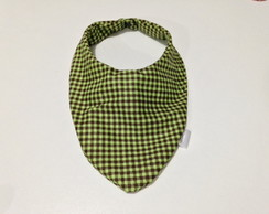 BABADOR BANDANA XADREZ GREEN BROWN