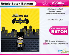 Rótulo Baton Batman Cute
