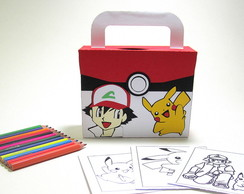 Maletinha com Kit Pintura Pokemom