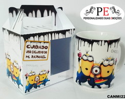 Canecas Minions Chocolate uso exclusivo