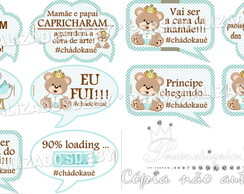 Kit 10 placas divertidas URSO