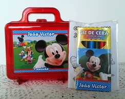 Maletinha com Kit -A casa do Mickey