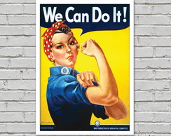 Poster We Can Do It A4 impresso