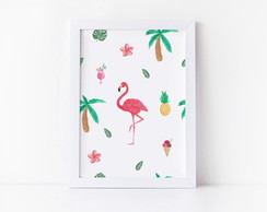 Quadro Flamingo Tropical