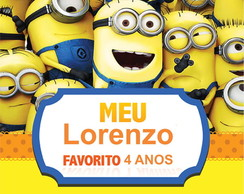 Painel Minions 1x1m