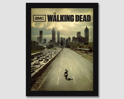 Quadro Walking Dead Serie Seriado Filme Tv Decorativo Sala