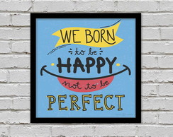 Poster Born to Be Happy 20 x 20cm