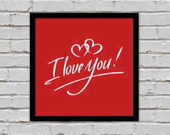Poster I Love You 20 x 20cm