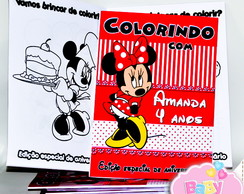 Revista de colorir Minnie Mouse