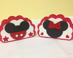 Porta Guardanapo Mickey e Minnie