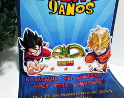 Convite Pop Up - Dragon Ball Z