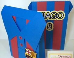 ... Caixa camisa Barcelona Personalizada 484db82ac0ff4