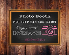 Arte Digital - Placa PhotoBoot