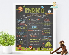 Chalkboard Quadro Negro Floresta Digital