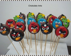 Pirulito de Chocolate Angry Birds
