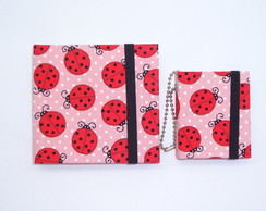 Conjunto Porta Post-it G+P Joaninhas