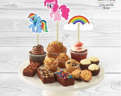 Toppers de docinhos My Little Pony