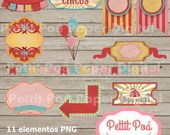 Kit digital circus girls vintage