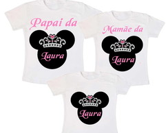 Kit 3 Camiseta Aniversario Minnie