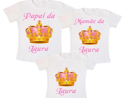 Kit 3 Camiseta Aniversario Princesa