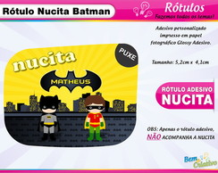 Rótulo Nucita Batman Cute