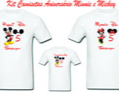 Kit Camisetas Aniversario Minnie