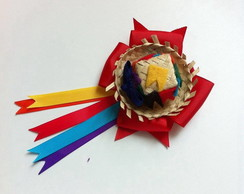 bc9c75943b15f ... Chapéu de palha na fivela - festa junina