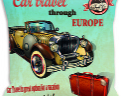Capa Almofada Carros Through Europe