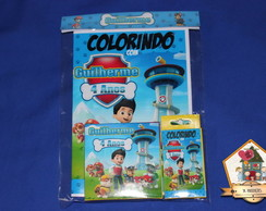 Revista Colorir KIT COM GIZ E MASSINHA