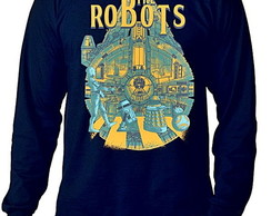 CAMISETA LONGA MASCULINA - THE ROBOTS