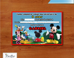 Convite Casa do Mickey - 10 x 15 cm