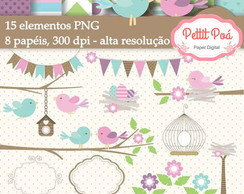 Kit digital pássaros